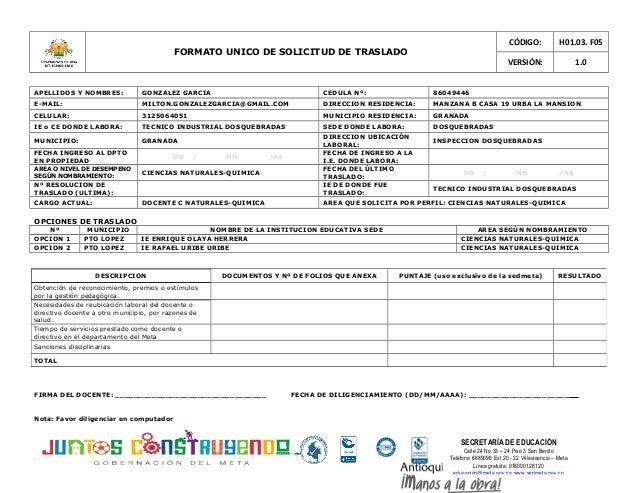 SECRETARÍA DE EDUCACIÓN Calle 24 No 33 – 24 Piso 3 San Benito Teléfono 6689098 Ext 20 - 22 Villavicencio – Meta Línea grat...