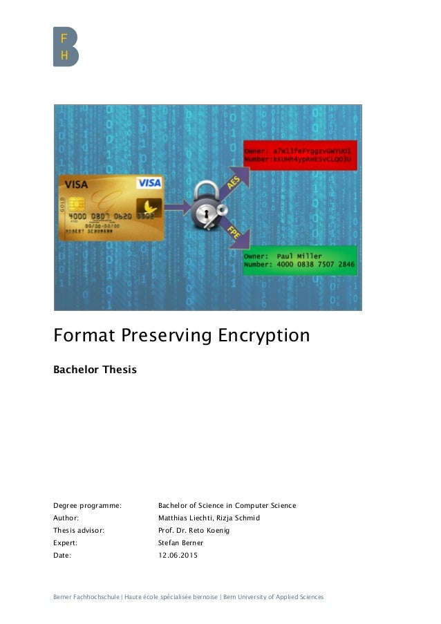 Master thesis cryptography