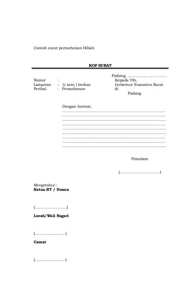 Format Proposal Hibah Bansos 2014