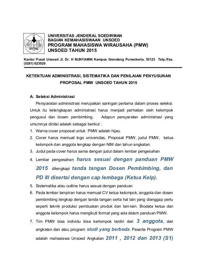 Format proposal pmw 2015