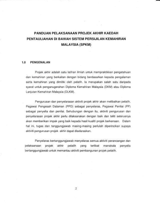 Contoh Laporan Projek Akhir Dkm