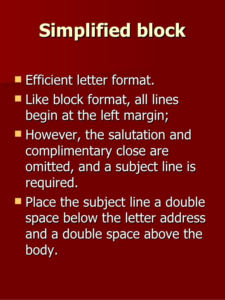 Formats for common business correspondences 13 simplified block spiritdancerdesigns Images