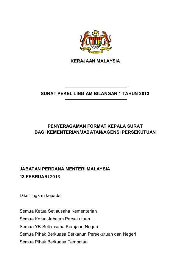 Format surat rasmi