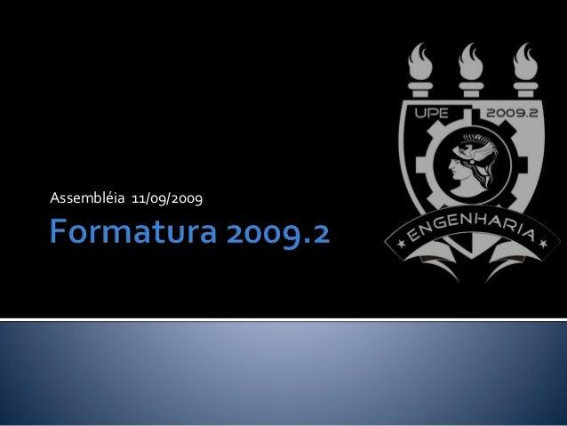 Assembléia 11/09/2009