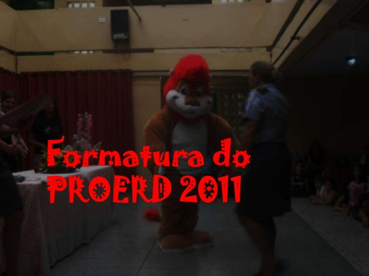 Formatura doPROERD 2011