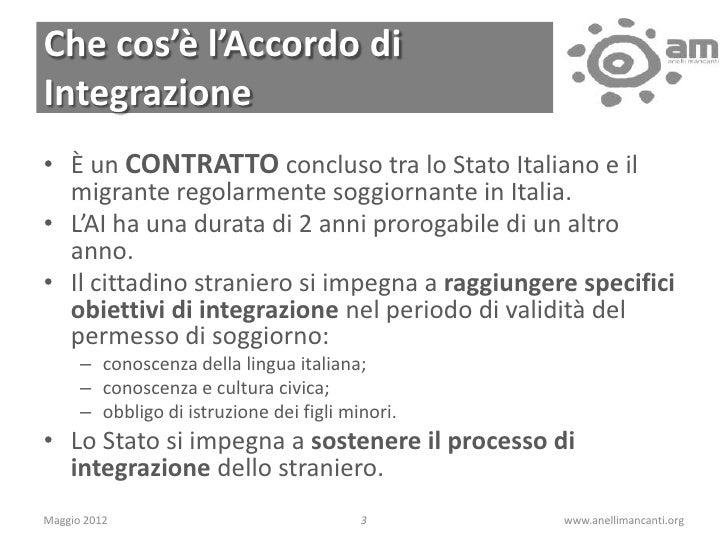 L\'Accordo di Integrazione e il permesso \
