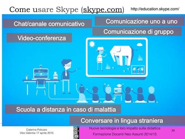 39 Nuove tecnologie e loro impatto sulla didattica Formazione Docenti Neo Assunti 2014/15 Caterina Policaro Vibo Valentia ...