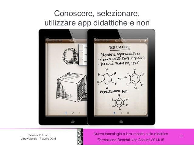 35 Nuove tecnologie e loro impatto sulla didattica Formazione Docenti Neo Assunti 2014/15 Caterina Policaro Vibo Valentia ...