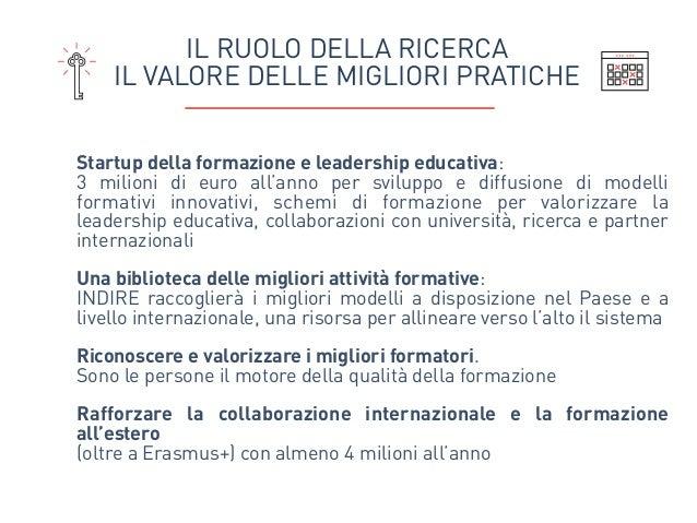 Startup della formazione e leadership educativa:  3 milioni di euro all'anno per sviluppo e diffusione di modelli formati...