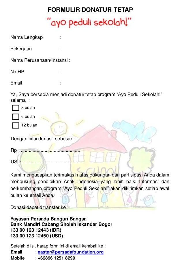 Form Donatur Tetap