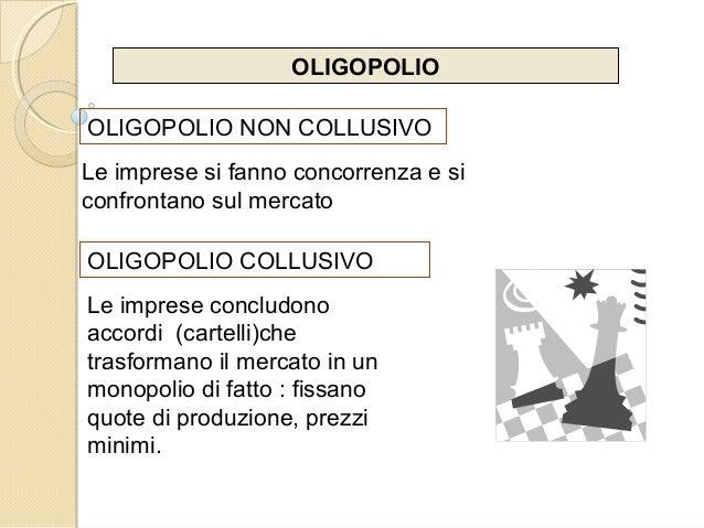 OLIGOPOLIO OLIGOPOLIO NON COLLUSIVO Le imprese si fanno concorrenza e si confrontano sul mercato OLIGOPOLIO COLLUSIVO Le i...