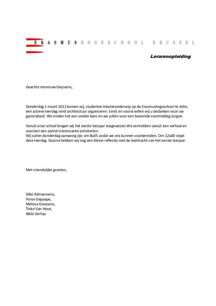 einde formele brief Formele brief ! eindversie !