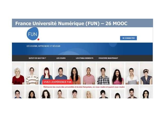 France Université Numérique (FUN) – 26 MOOC