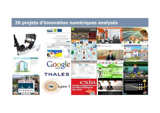 20 projets d'innovation numériques analysés 27