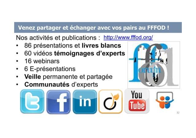 Venez partager et échanger avec vos pairs au FFFOD ! Nos activités et publications : • 86 présentations et livres blancs •...