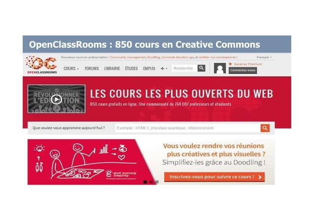 OpenClassRooms : 850 cours en Creative Commons