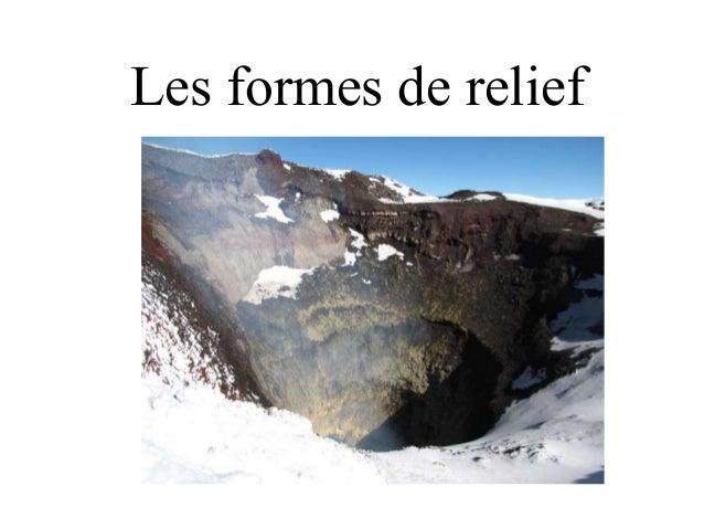 Les formes de relief
