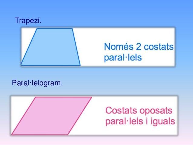 El rectangle té els seus costats oposats iguals i els seus quatre angles són rectes. El romboide té els seus costats oposa...