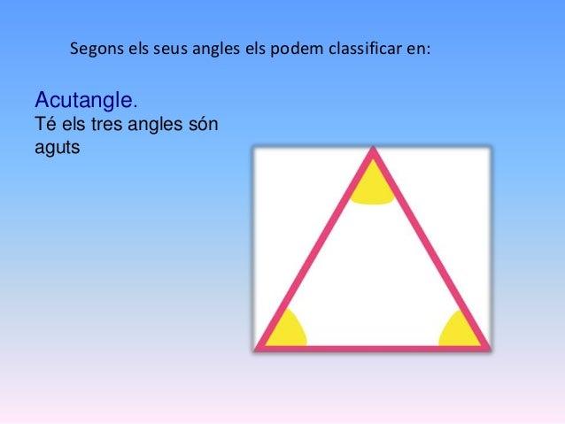 Rectangle. Té un angle recte. Obtusangle. Té un angle obtús.