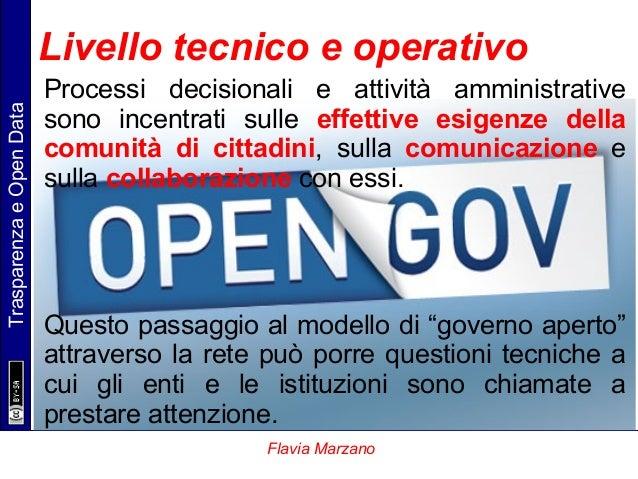 TrasparenzaeOpenData Flavia Marzano Processi decisionali e attività amministrative sono incentrati sulle effettive esigenz...