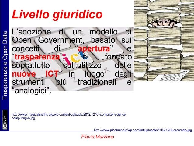 """TrasparenzaeOpenData Flavia Marzano L'adozione di un modello di Open Government, basato sui concetti di """"apertura"""" e """"tras..."""