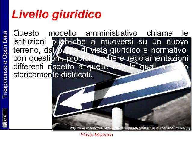 TrasparenzaeOpenData Flavia Marzano Questo modello amministrativo chiama le istituzioni pubbliche a muoversi su un nuovo t...