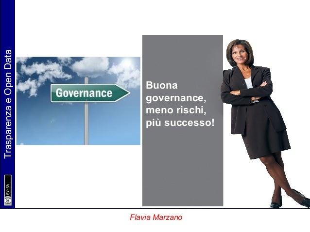 TrasparenzaeOpenData Flavia Marzano Buona governance, meno rischi, più successo!