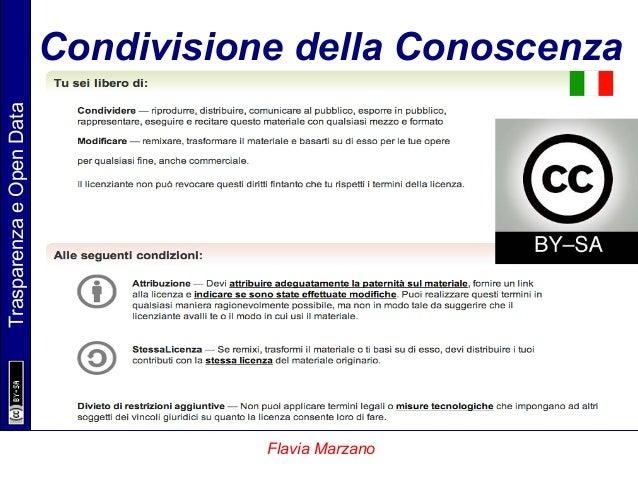 TrasparenzaeOpenData Flavia Marzano Condivisione della Conoscenza