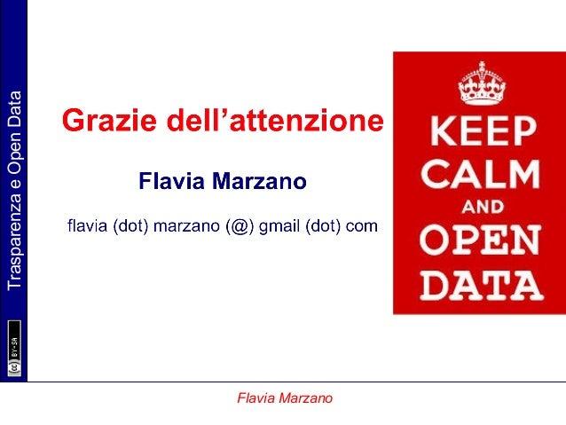 TrasparenzaeOpenData Flavia Marzano