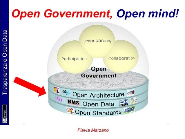 TrasparenzaeOpenData Flavia Marzano Open Government, Open mind!