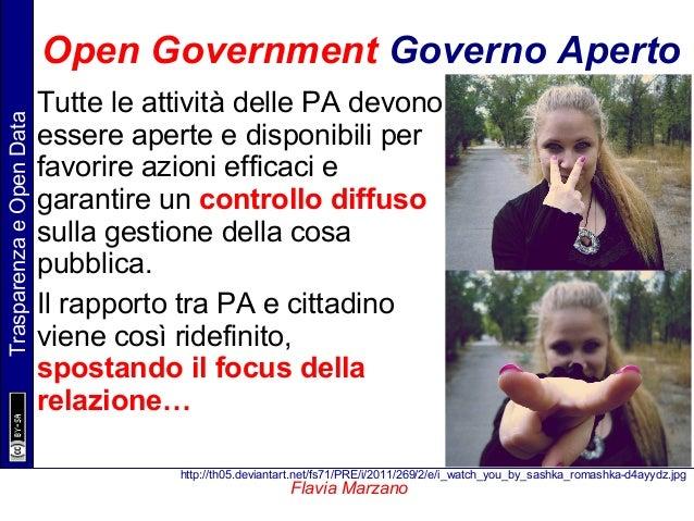 TrasparenzaeOpenData Flavia Marzano Open Government Governo Aperto Tutte le attività delle PA devono essere aperte e dispo...