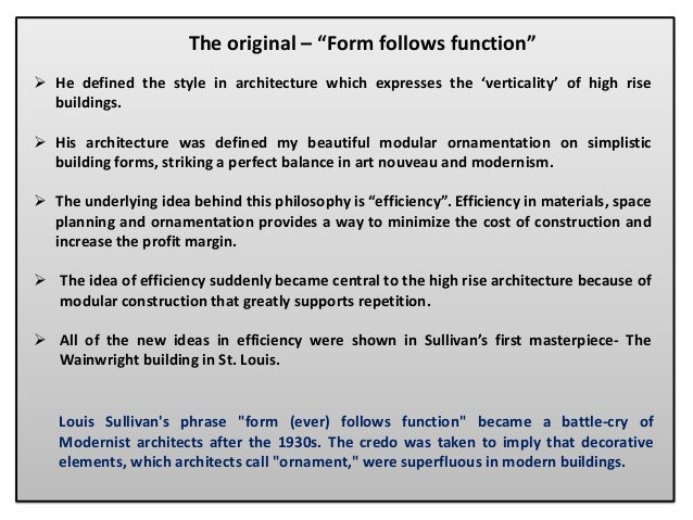 louis sullivan form follows function essay writing