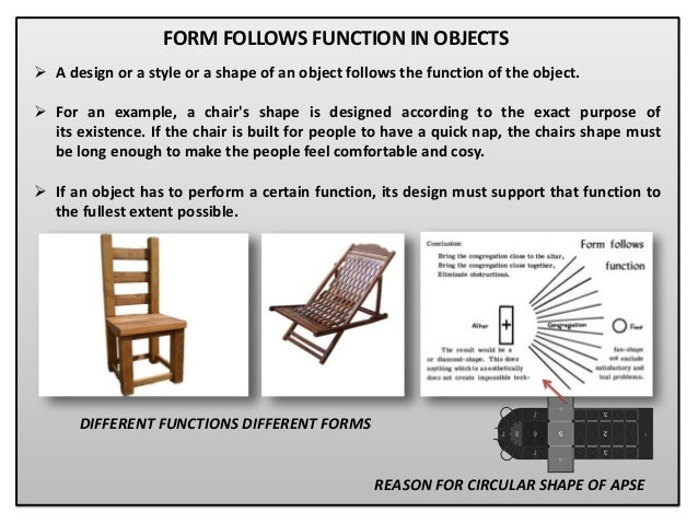 form follows function!