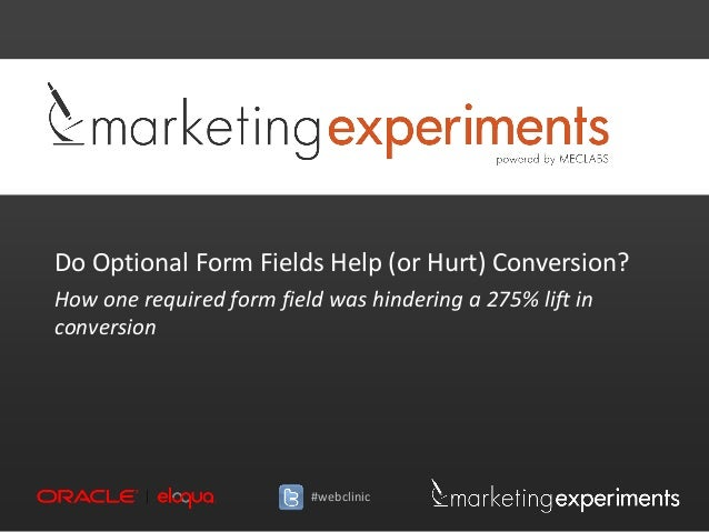 Do Optional Form Fields Help (or Hurt) Conversion?How one required form field was hindering a 275% lift inconversion      ...