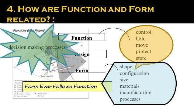 Form follows function'