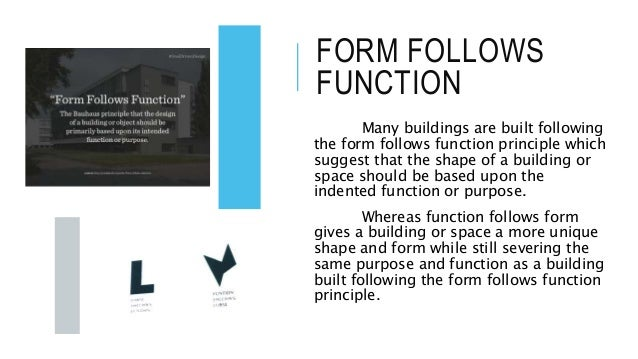 Why Form Should Follow Function In Interior Design