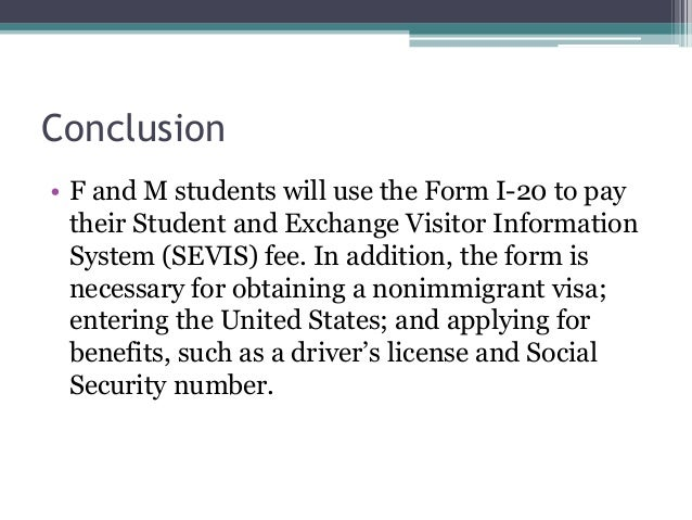 Form I-20: Certificate of Eligibility for Nonimmigrant Student Status