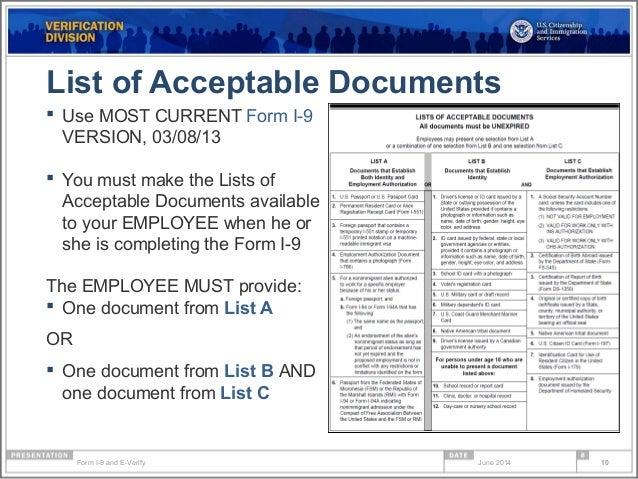 Form i 9 compliance & e-verify webinar