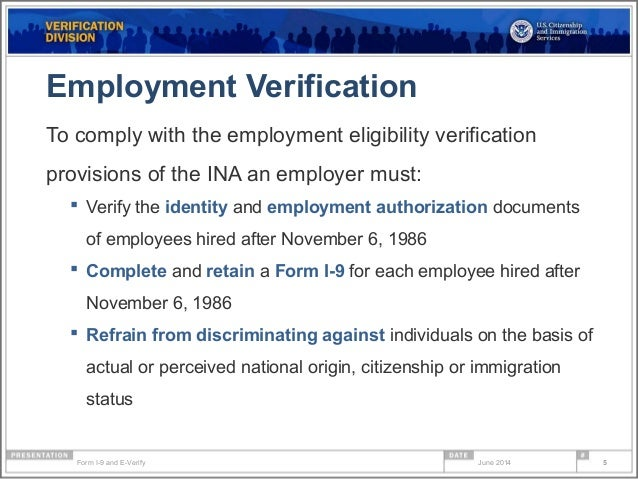 Form i 9 compliance & e-verify webinar