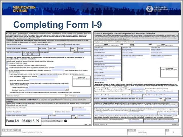 form i-9 spanish  Form i 11 compliance & e-verify webinar