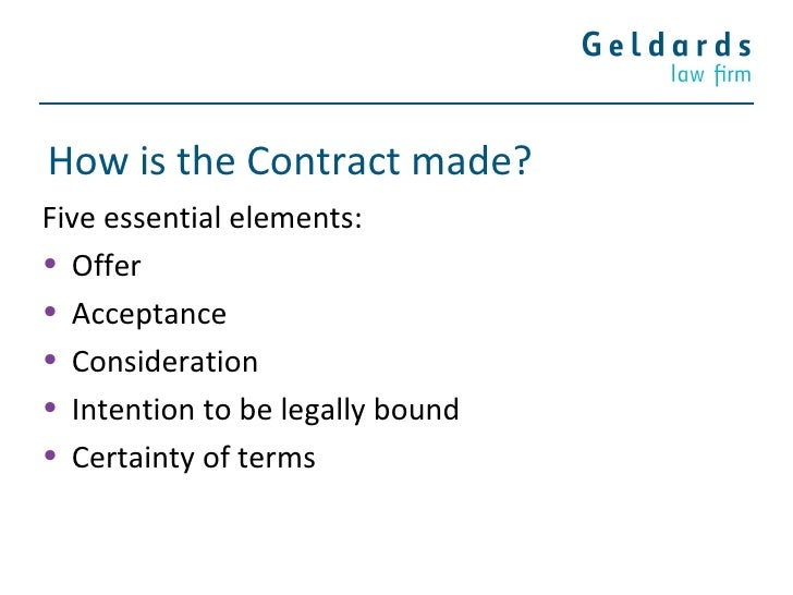 five essential elements of a valid contract