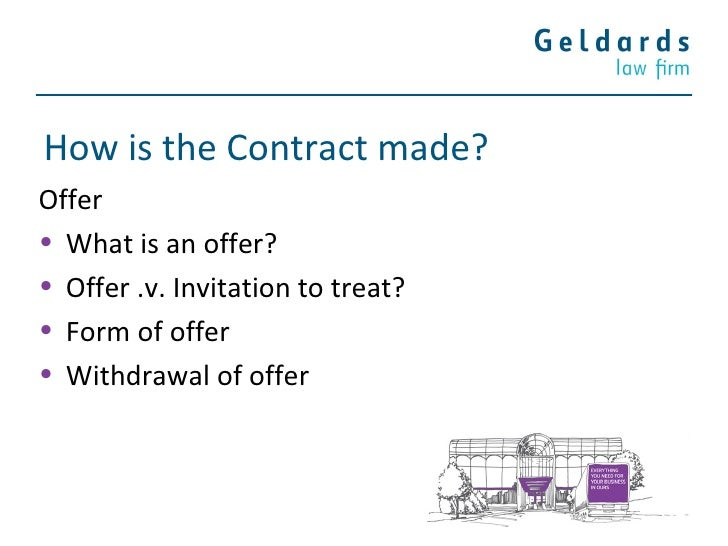 Forming A Contract