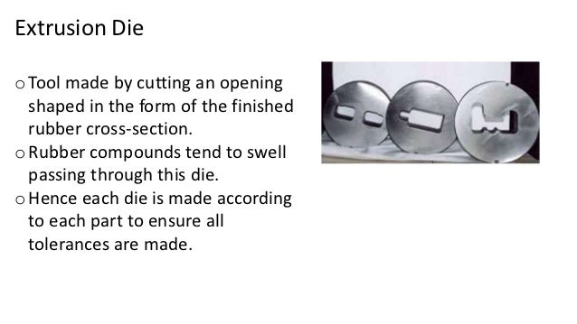 Forming Of Rubbers