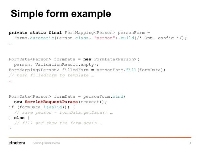 Formio - form definition & binding library for Java platform