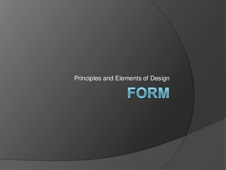 Elements And Principles Of Design Form : Form margot flowers