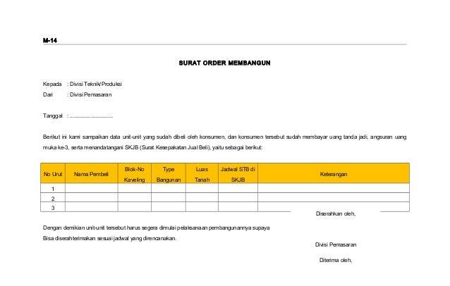 Form Mkt14 Surat Order Membangun