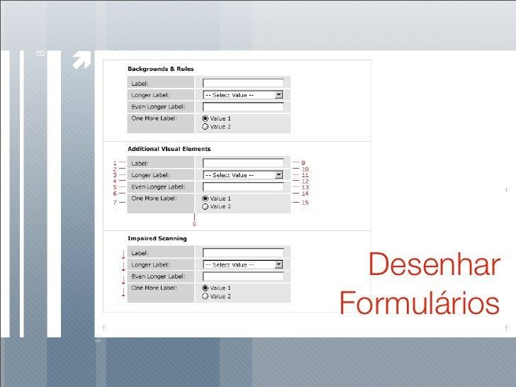 8           Desenhar     Formulários