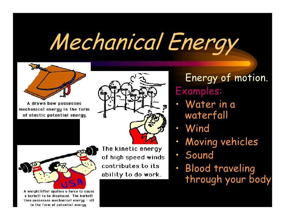 Exle Of Mechanical Energy 28 Images Forms 20of 20energy 1 Exles