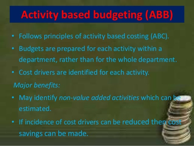 forms of budgeting