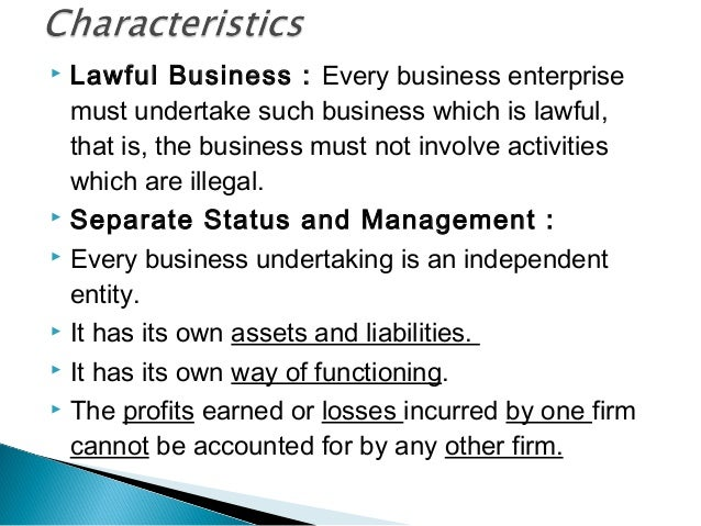 characteristics of business organisation